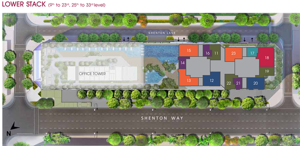 Site Plan level 9 to 33